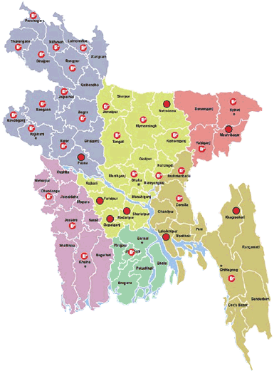 Karnaphuli's presence in Bangladesh